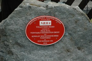 5836 National heritage award for restoration of turntable Rowsley South