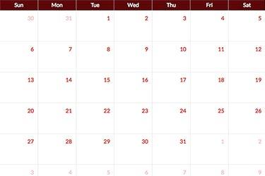 events calendar peak rail