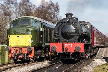 Peak Rail steam and diesel trains
