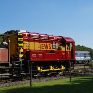 restored rail shunters, Derbyshire UK