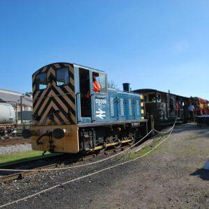 restored rail shunters, Derbyshire UK