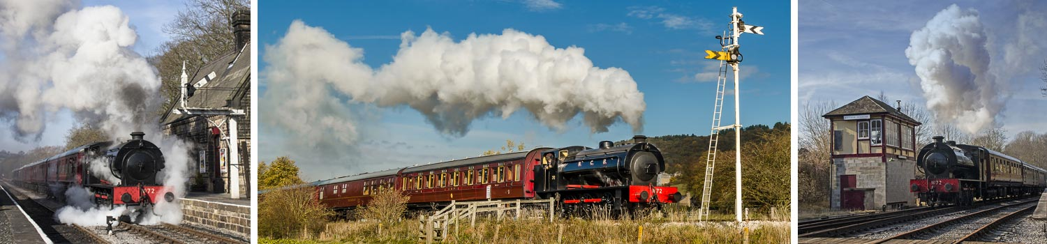steam train rides through the derbyshire dales