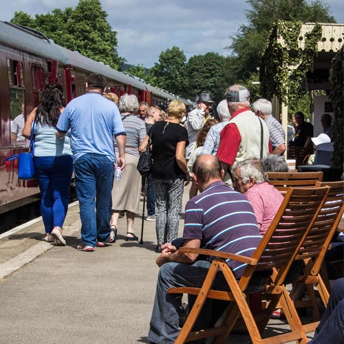 special steam train events Derbyshire