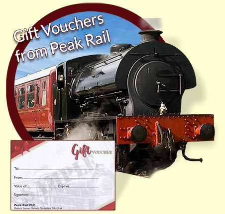 gift vouchers Peak Rail