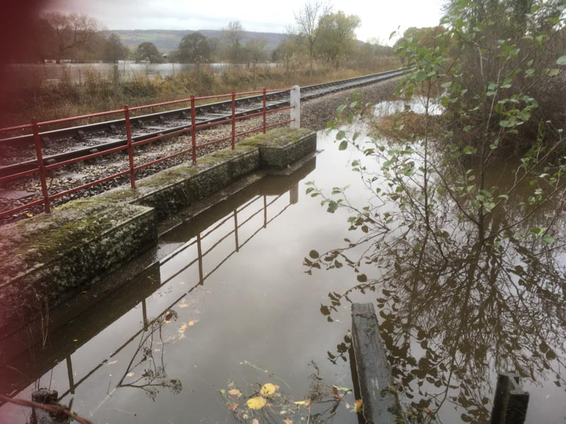 Peak Rail p way floods