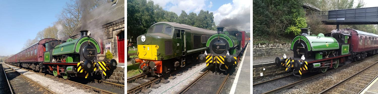 Steam train and locomotive rides in Derbyshire
